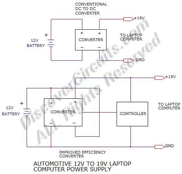 Circuit Schematic 12V LapTop Power Supply