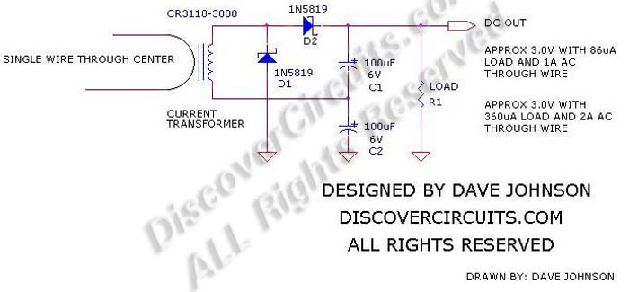 Designed Dave JohnsonEnergy Harvesting circuit