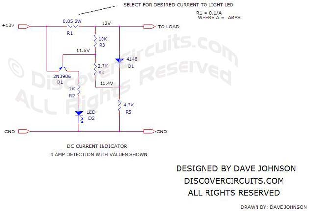 Circuit DC Current Indicator 6 Schematic
