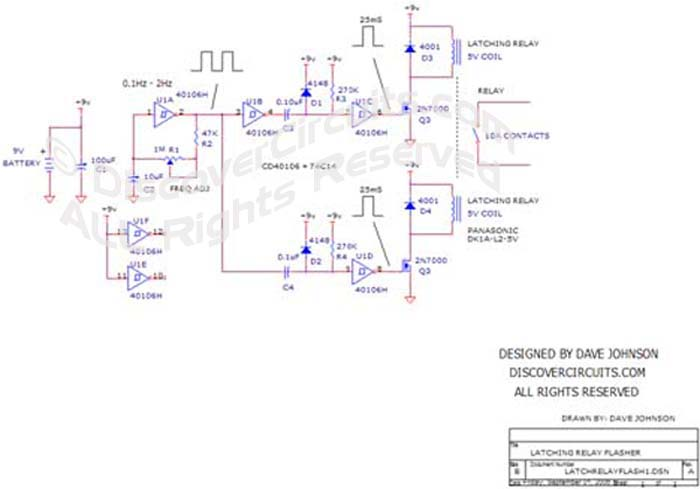 Circuit Circuit Universal Flasher Using a Latching Relay