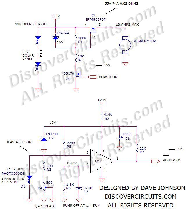 solar-powered water pump control design by Dave Johnson