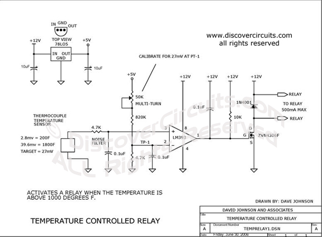 Circuit RelayTemperature Controlled