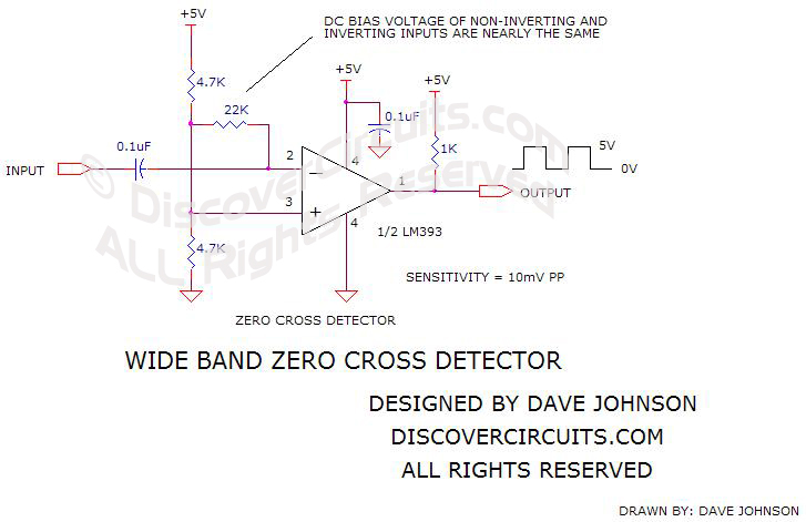circuit schematic wide band zero cross detector
