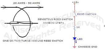 Circuit Circuit High DC Current Indicator designed by David Johnson