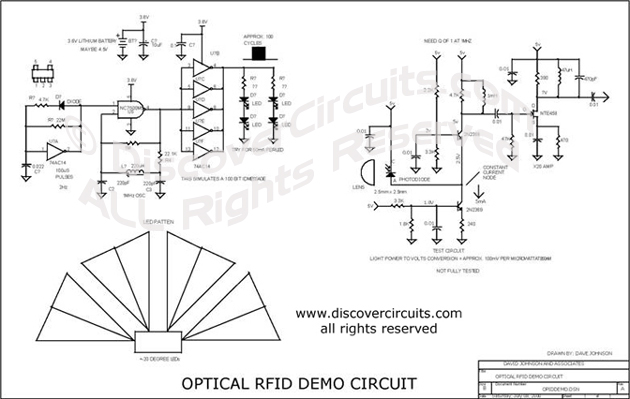 Circuit Optical RFID Demo Circuit designed by David A. Johnson