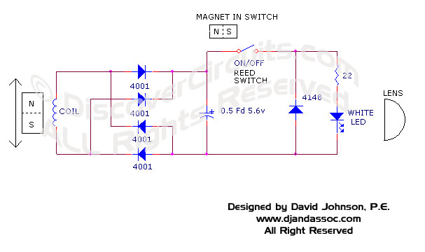 Circuit Circuit Shake to Charge Flashlight by David Johnson